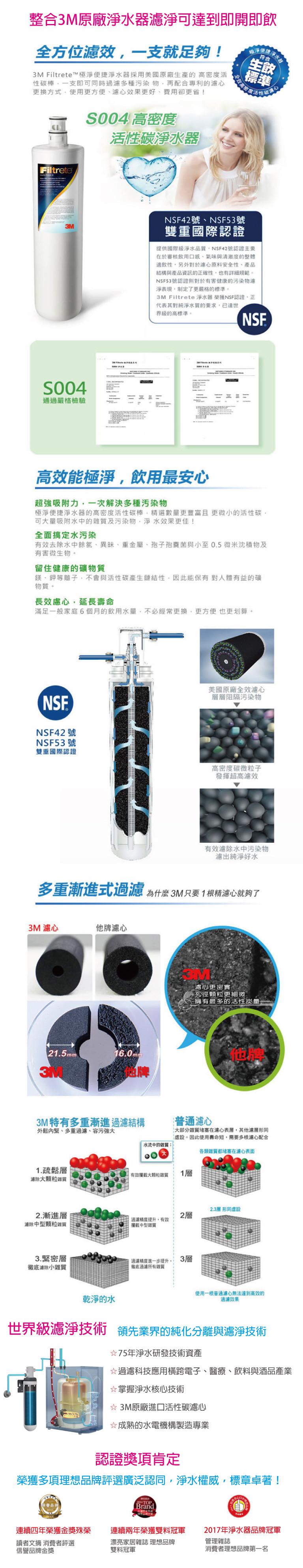 3M HEAT2000 高效能櫥下熱飲機/加熱器+S004生飲淨水器/濾水器